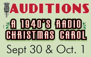 "Auditions ""A 1940's Radio Christmas Carol"""